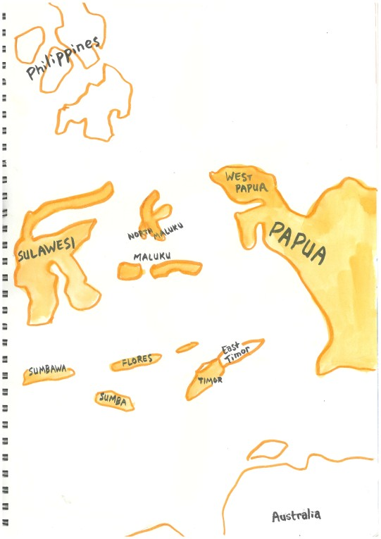 I labeled the map with the names of islands, rather than administrative regions, with the exception of the Banda Islands, which are labeled Maluku. I'm kind of annoyed at myself for that.